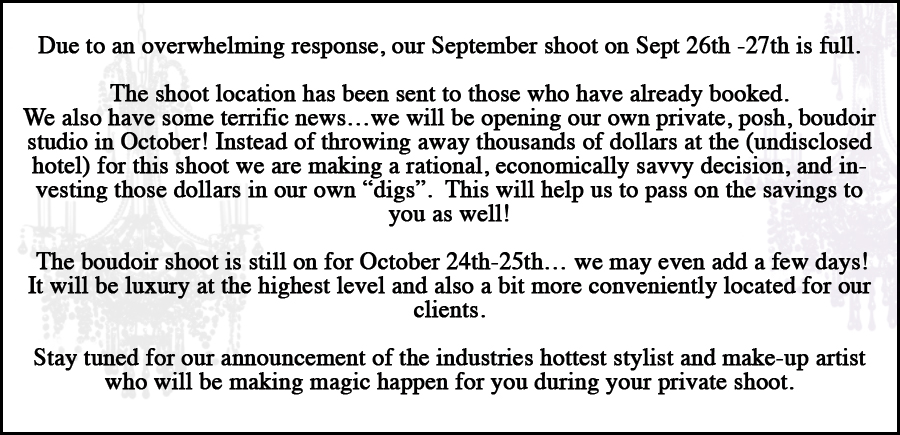 boudoir photography hotel marathon update sold out